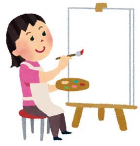 絵を描く子